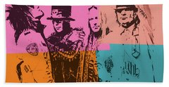 Motley Crue Pop Art Bath Towel