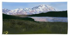 Mount Mckinley From Wonder Lake  Bath Towel