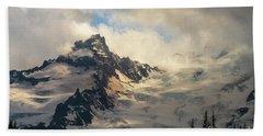 Mount Rainier Photography Little Tahoma Cloudscape Bath Towel