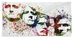 Mount Rushmore National Memorial Colorful Watercolor Hand Towel