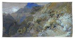 Mount Siabod From Tyn-y-coed Near Capel Curig - Digital Remastered Edition Bath Towel