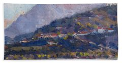 Mount Tomorr View From Gramsh Albania Hand Towel
