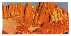 Mount Whitney Sunrise Bath Towel