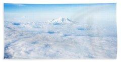 Mountain Peak In Blue Bath Towel