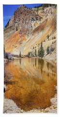 Bath Towel featuring the photograph Mountain Reflections by Theo O'Connor
