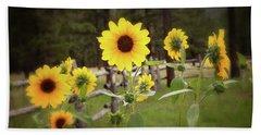 Mountain Sunflowers Hand Towel