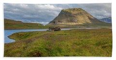 Mountain Top Of Iceland Bath Towel