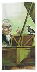 Mozart And The Starling Bath Towel