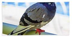 Mr. Pigeon Bath Towel