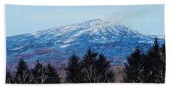 Mt. Monadnock Spring Snow Hand Towel