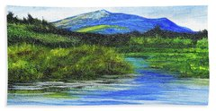 Mt. Monandnock From Scott Brook Hand Towel