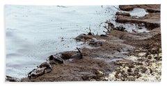 Muddy Sea Shore Bath Towel