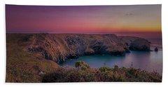 Mullion Cove Cornwall Sunset Hand Towel