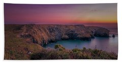 Mullion Cove Cornwall Sunset Bath Towel
