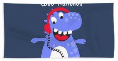 Mummy's Little Loud-asaurus - Baby Room Nursery Art Poster Print Hand Towel