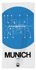 Munich Blue Subway Map Bath Towel