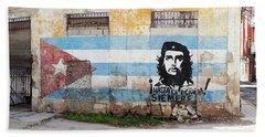 Mural Of Che Guevara The Cuban Bath Towel