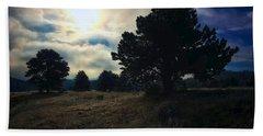 Bath Towel featuring the photograph Murky Atmosphere Elk Meadow by Dan Miller