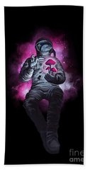 Mushroom Cosmonaut Space Traveller Bath Towel