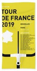 My Tour De France Minimal Poster 2019 Hand Towel