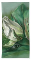 Mystery In The Rose Garden Hand Towel