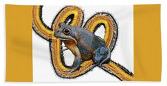 N Is For Northern Banjo Frog Hand Towel