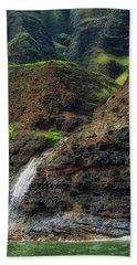 Na Pali Coast Waterfall Bath Towel