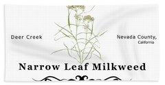 Narrow Leaf Milkweed Hand Towel