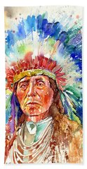 Native American Chief Hand Towel