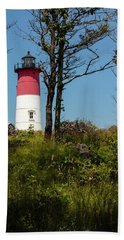 Nauset Lighthouse On The 4th Of July Bath Towel