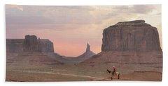 Navajo Rider  Bath Towel