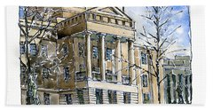 Nc Capitol In Winter Hand Towel