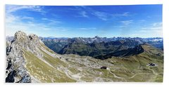 Bath Towel featuring the photograph Nebelhorn Panorama by Andreas Levi