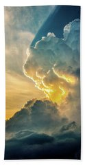 Nebraska Sunset Thunderheads 075 Bath Towel