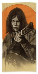 Neil Young Harvest Hand Towel
