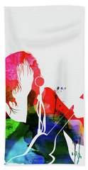 Neil Young Watercolor Bath Towel