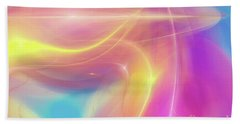 Neon Light  Cosmic Rays Bath Towel