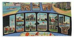 New Jersey Greetings - Version 1 Bath Towel
