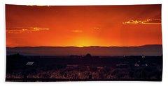 New Mexico Sunset Bath Towel