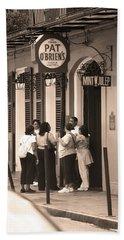 New Orleans Bourbon Street 2004 #44 Sepia Bath Towel