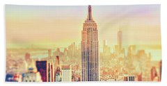 New York City Colorful Sunset Hand Towel