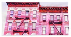 New York City In Pink Hand Towel