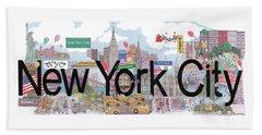 New York City  Hand Towel