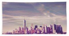 New York City Waterfront Hand Towel
