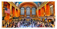 New York Grand Central Station Hand Towel