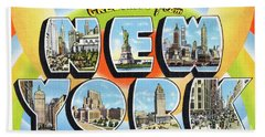 New York Greetings - Version  3 Bath Towel