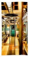 New York Subway Car Hand Towel