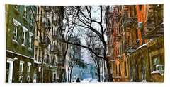 New York West Village Snow Hand Towel
