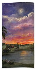 Night By Light Of Day Hand Towel