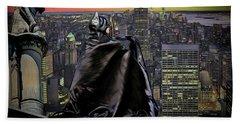 Night Of The Bat Man Bath Towel